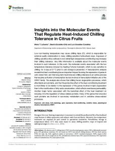 Insights into the Molecular Events That Regulate ... - Semantic Scholar