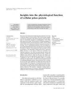 Insights into the physiological function of cellular