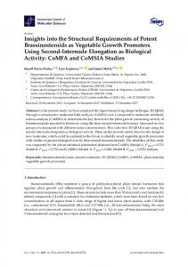 Insights into the Structural Requirements of Potent ... - Semantic Scholar