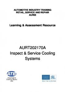 Inspect and service cooling systems - Automotive Training Board of ...