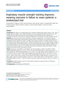 Inspiratory muscle strength training improves