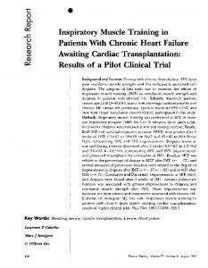 Inspiratory Muscle Training in Patients With Chronic Heart Failure ...