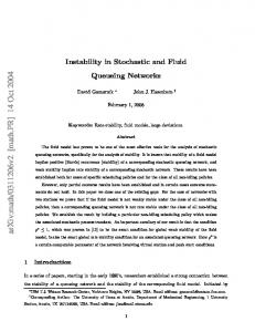 Instability in Stochastic and Fluid Queueing Networks