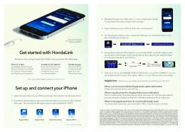Installation Instructions for HondaLink iOS Cable Kit