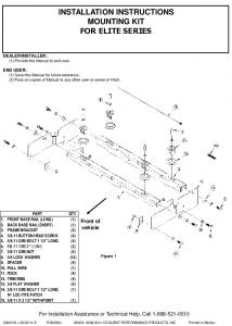 INSTALLATION INSTRUCTIONS MOUNTING KIT GM '99-'07 ...