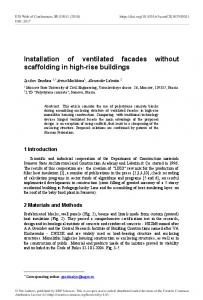 Installation of ventilated facades without scaffolding in high-rise ...