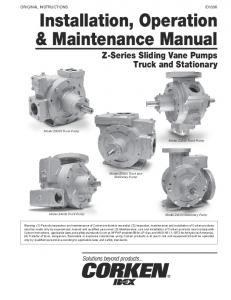 Installation, Operation & Maintenance Manual (IOM)