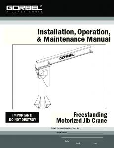 Installation, Operation, & Maintenance Manual