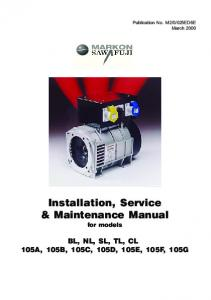 Installation, Service & Maintenance Manual
