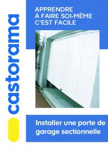 Porte sectionnelle dicoma mafiadoc com for Castorama porte garage sectionnelle