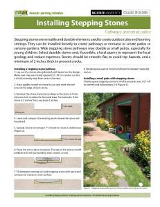 Installing Stepping Stones - Natural Learning Initiative