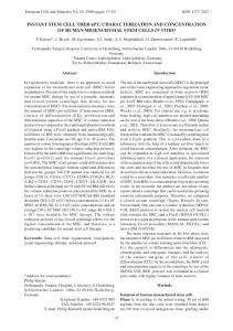 Instant stem cell therapy: Characterization and ... - eCM Journal