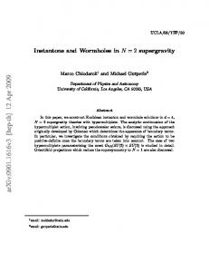 Instantons and Wormholes in N= 2 supergravity