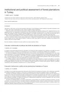 Institutional and political assessment of forest ... - IngentaConnect