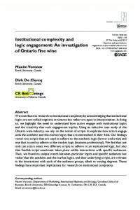 Institutional complexity and logic engagement: An ...