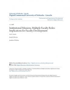 Institutional Missions, Multiple Faculty Roles - DigitalCommons ...