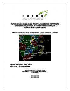 institutional responses to hiv/aids from institutions of higher ... - sarua
