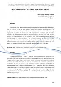 INSTITUTIONAL THEORY AND SOCIAL RESPONSIBILITY ... - Porto