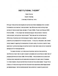 institutional theory1 - Semantic Scholar