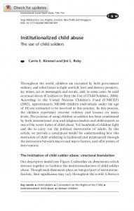 Institutionalized child abuse - SAGE Journals - Sage Publications