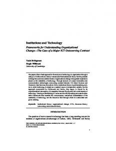 Institutions and Technology - CiteSeerX