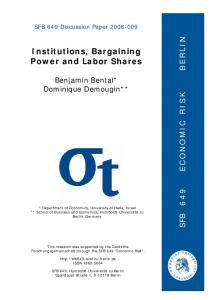 Institutions, Bargaining Power and Labor Shares - Humboldt ...