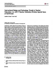 Instructional Design and Technology Trends in Teacher Education: An ...