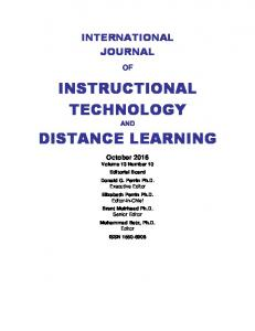 INSTRUCTIONAL TECHNOLOGY DISTANCE LEARNING