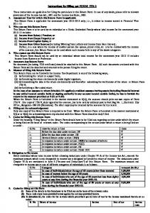 Instructions for filling out FORM ITR-2