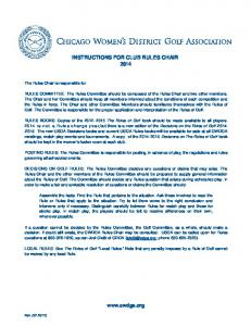 Instructions for Rules Chair - Chicago Womens District Golf ...