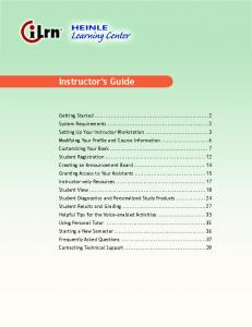 Instructor's Guide - Heinle