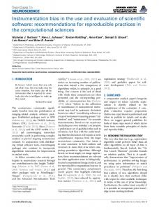 Instrumentation bias in the use and evaluation of ... - Semantic Scholar