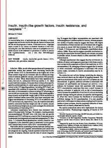 Insulin, insulin-like growth factors, insulin resistance - McGill University