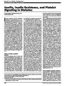 Insulin, Insulin Resistance, and Platelet Signaling in ... - Diabetes Care
