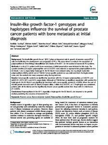 Insulin-like growth factor-1 genotypes and haplotypes ... - BioMedSearch