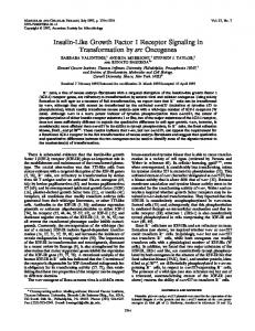 Insulin-Like Growth Factor I Receptor Signaling in Transformation by ...