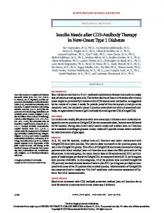 Insulin Needs after CD3-Antibody Therapy in New ... - Semantic Scholar