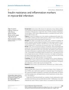 Insulin resistance and inflammation markers in ... - BioMedSearch