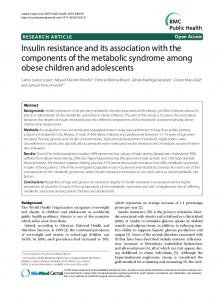 Insulin resistance and its association with the