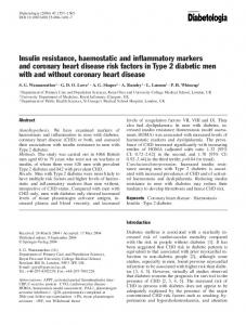 Insulin resistance, haemostatic and inflammatory ... - Springer Link