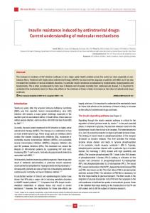 Insulin resistance induced by antiretroviral drugs: Current ...