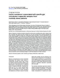 Insulin resistance is associated with specific gut microbiota in ...