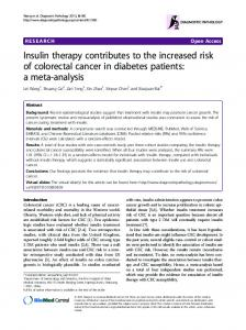 Insulin therapy contributes to the increased risk of ... - Springer Link