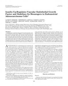 Insulin Up-Regulates Vascular Endothelial Growth Factor and ...