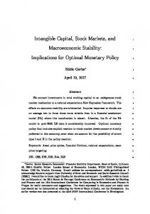 Intangible Capital, Stock Markets, and
