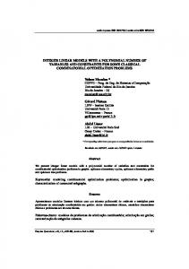 integer linear models with a polynomial number of variables ... - Scielo.br