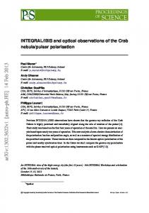 INTEGRAL/IBIS and optical observations of the Crab nebula/pulsar ...