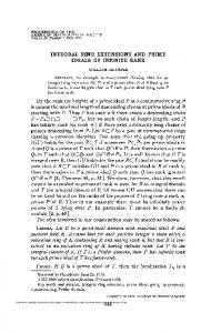 integral ring extensions and prime ideals of infinite rank - American ...
