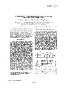 Integrated 0.9V charge-control switching converter with ... - IEEE Xplore