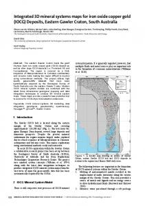 Integrated 3D mineral systems maps for iron oxide ...